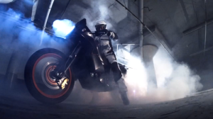 worlds first two wheeled motorcycle burnout